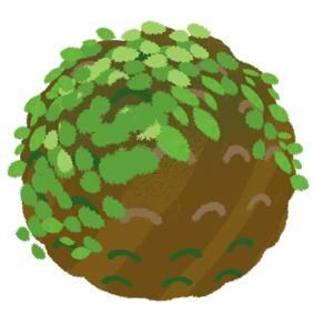 野趣苔球圖案