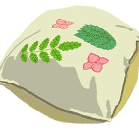 滾石葉拓抱枕圖案