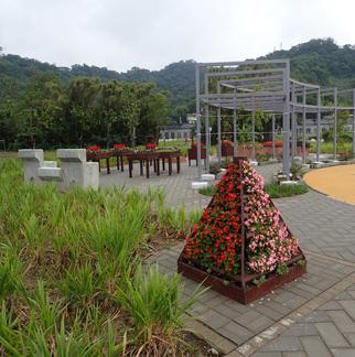 矮性狼尾草帶及立體式花壇與花圃的植栽更新