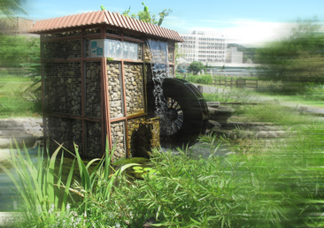 臺大農業試驗場的水車